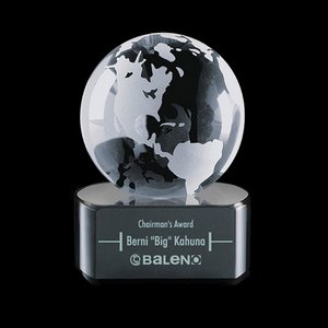 Globe Paperweight on Paragon Black Base - 2-3/8 in. Diam