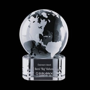 Globe on Paragon Clear Base - 4 in. Diam