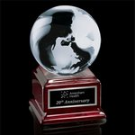 Globe on Radison - Optical/Rosewood 4 in.