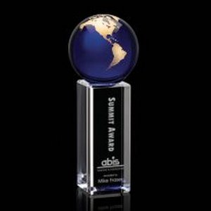 Luz Globe Award - Optical/Blue/Gold 9 in