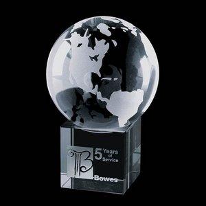 Globe on Cube - Optical 4 in. Diameter