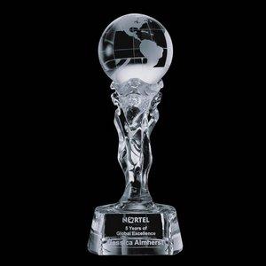 Athena Globe Award - Optical Crytal 12 in.