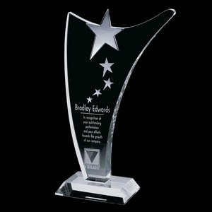 Atkinson Star Award - Optical Crystal with Chrome 10 in.
