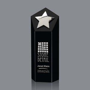 Dorchester Star Award - Black/Silver 8 in