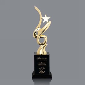 Lorita Star Award - Gold/Black 12?in.
