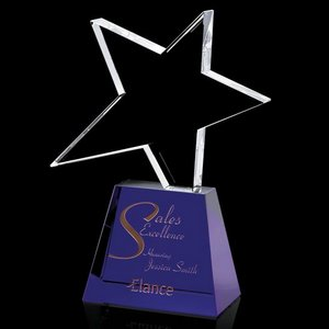 Falcon Star Award - Optical/Blue 8 in.