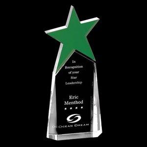 Vernon Star Award- Optical/Green 9 in.