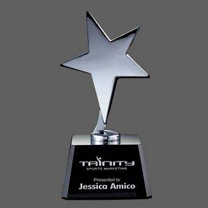 Tuscany Star Award on Black Base - 6 in. High