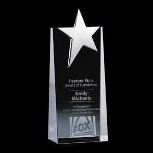 Fanshaw Star Award - Optical Cystal with Chrome Star 6 in.