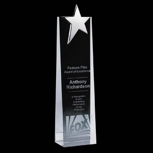 Fanshaw Star Award - Optical Cystal with Chrome Star 12 in