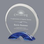 Huber Optical Crystal Award - Blue