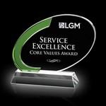 Aylin Award - Optical/Green 6 1/4 in  W