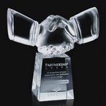 Shaking Hands Award - Optical 8 in.
