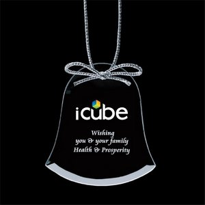 Jade Ornament w/VividPrint - Bell