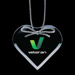 Jade Ornament w/VividPrint - Heart