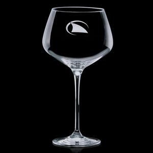 Rawlinson 24oz Burgundy Wine Glasses Engraved