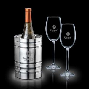 Perla Wine Cooler & 2 Woodbridge Wine Glasses