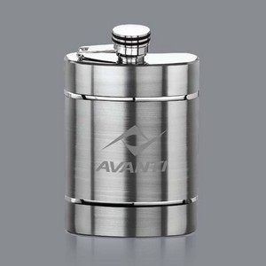 Larsson Hip Flask - 6oz Stainless Steel