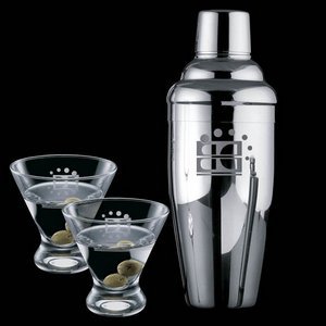 Connoisseur Shaker and 2 Brisbane Martini