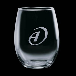 Stanford Stemless Wine Glasses Engraved Glasses - 9 oz