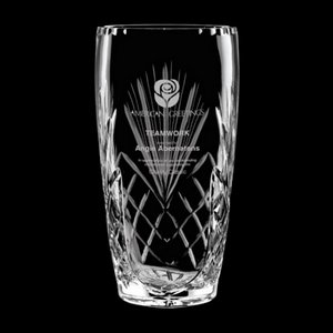Mulholland Vase - 24% Crystal 10in