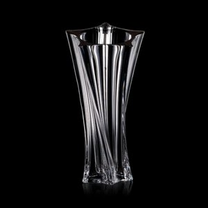 Manzini Waisted Vase - 11 in. Crystalline