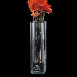 Bellaire Crystal Vase - Optical 8 in.
