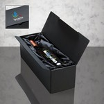 Wine and Champagne Bergamo Gift Box with full color logo