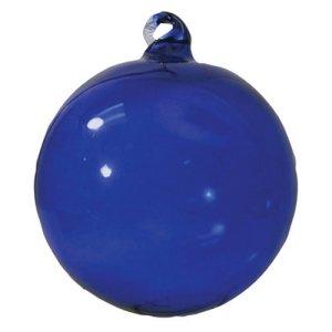 Glass Christmas Ornaments - Blue