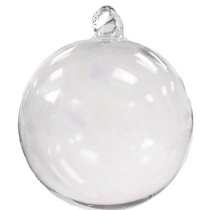 Glass Christmas Ornaments - Iridescent