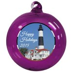 Hand Blown Glass Christmas Ornaments - Full Color Design