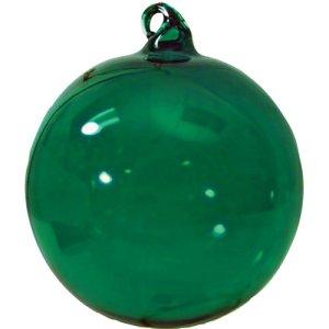 Glass Christmas Ornaments Hand Blown - Green Ornament