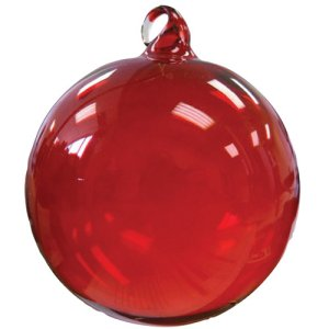 Glass Christmas Ornaments Hand Blown - Red