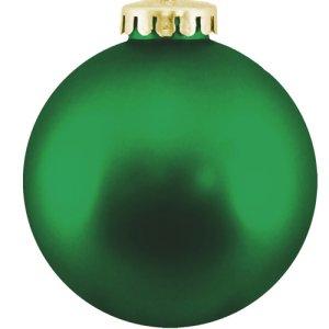 Christmas Ball Ornaments Shatterproof Plastic-  Green Ornaments