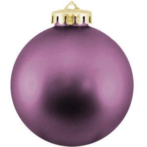Christmas Ball Ornaments Shatterproof Plastic - Purple Ornaments