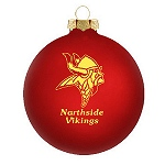 Customized Glass Christmas Ornaments -Red