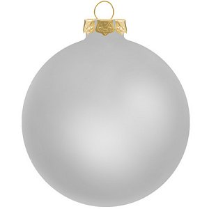 Customized Glass Christmas Ornaments -Silver Ornament