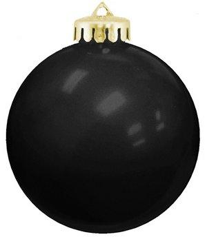 USA Shatterproof Christmas Ball Ornaments - Black