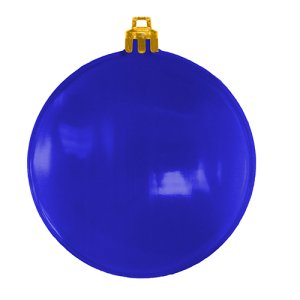 USA Made Christmas Ornament Flat Shatterproof - Translucent Blue