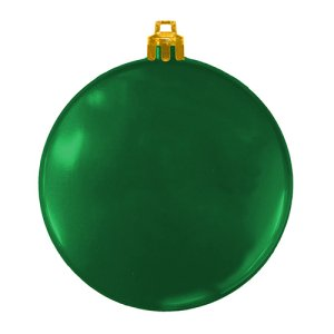 USA Made Custom Christmas Ornaments - Flat Shatterproof - Green
