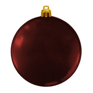 USA Made Custom Christmas Ornaments - Flat Shatterproof - Maroon