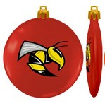 USA Made Custom Christmas Ornaments - Flat Shatterproof - Red