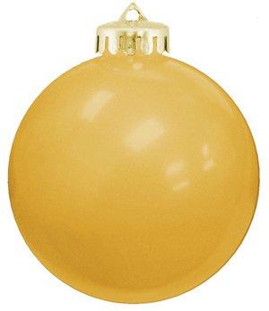 USA Shatterproof Christmas Ball Ornaments - Gold