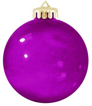 USA Shatterproof Christmas Ball Ornaments - Translucent Purple