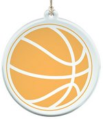Acrylic Suncatcher With Basketball Design