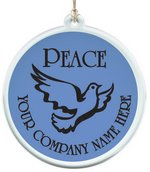 Sun Catcher in Clear Acrylic With Peace Ornament