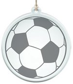 Acrylic Suncatcher With Soccer Ball Design