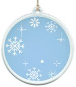 Sun Catcher in Clear Acrylic Snow Flake Ornament