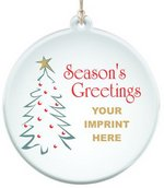 Sun Catcher in Clear Acrylic Season's Greetings Ornament