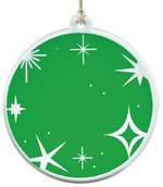 Sun Catcher in Translucent Green Acrylic With Stars Design